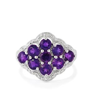 Zambian Amethyst Ring in Sterling Silver 2.64cts
