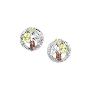 Sunrise Sterling Silver Shades Earrings ATGW 0.90cts