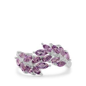 1.25ct Rose De France Amethyst Sterling Silver Ring