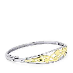 Bangle  in Two Tone Gold Plated Sterling Silver