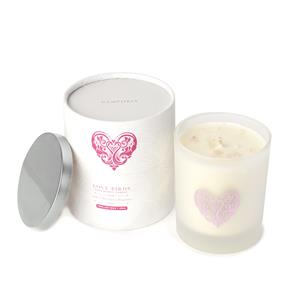 2020 Valentines Love Birds Candle With Strawberry Fragrance & 10cts Rose Quartz