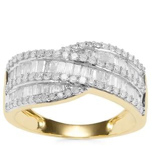 Diamond Ring in 9K Gold 1.05cts