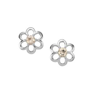 Champagne Danburite Earrings in Sterling Silver 0.94ct
