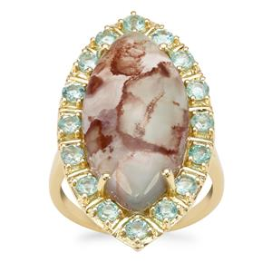Aquaprase™ Ring with Aquaiba™ Beryl in 9K Gold 10.81cts