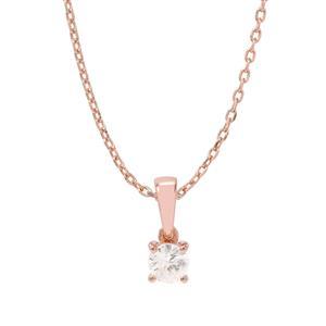 Singida Tanzanian Zircon Pendant Necklace  in Rose Gold Vermeil 0.67ct