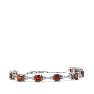 Zanzibar Sunburst Zircon Bracelet with Diamond in 18K White Gold 14.94cts