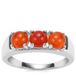 Mexican Fire Opal Ring in Sterling Silver 1cts