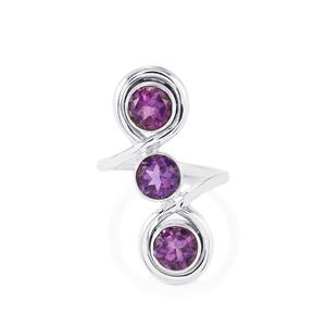 4.50ct Bahia Amethyst Sterling Silver Aryonna Ring