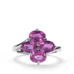 Ilakaka Hot Pink Sapphire Ring in Sterling Silver 4.71cts (F)