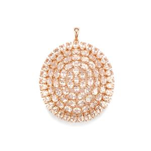 Morganite Pendant in Rose Gold Plated Sterling Silver 13.13cts