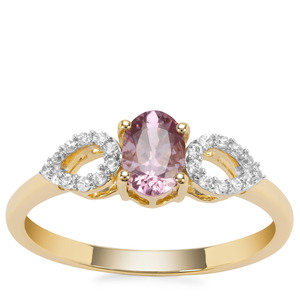 Mahenge Hope Spinel Ring with White Zircon in 9K Gold 0.70cts