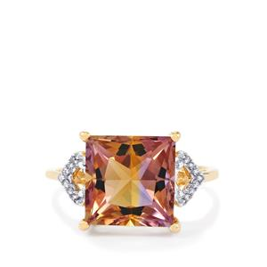 Anahi Ametrine Ring with Diamond in 9K Gold 4.76cts