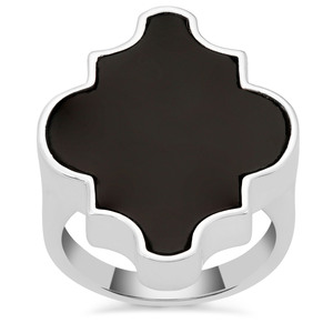Black Onyx Ring in Sterling Silver 12.26cts