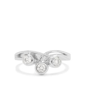 White Topaz Ring in Sterling Silver 0.55ct