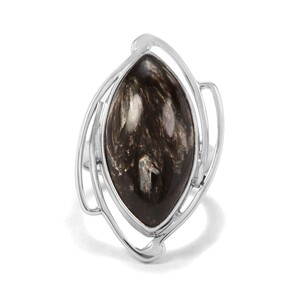 10.50ct Midnight Seraphinite Sterling Silver Indus Valley Ring