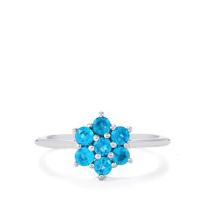 0.62ct Neon Apatite Sterling Silver Ring