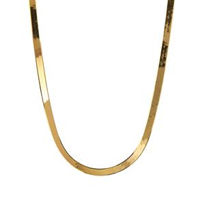9K Gold Altro Quad Herring Bone Necklace 3.40g