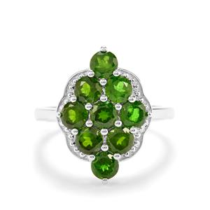 3.11ct Chrome Diopside Sterling Silver Ring