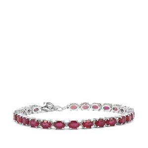 Malagasy Ruby Bracelet in Sterling Silver 16.63cts (F)
