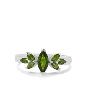 1ct Chrome Diopside Sterling Silver Ring