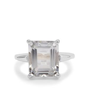 6ct White Topaz Sterling Silver Ring