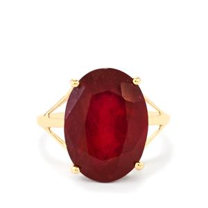 Malagasy Ruby Ring in 9K Gold 13.88cts (F)