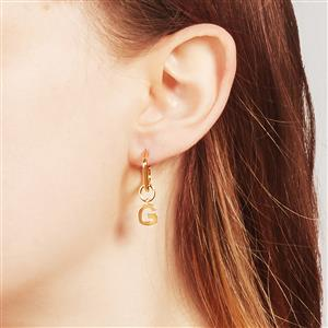 Molte G Letter Charm in Gold Plated Silver