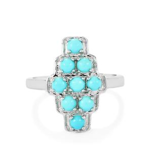 Sleeping Beauty Turquoise Ring in Sterling Silver 0.90ct