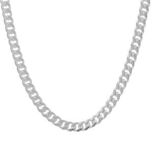 """18"""" Sterling Silver Couture Diamond Cut Miami Chain 4.85g"""