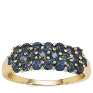 Australian Blue Sapphire Ring in 9K Gold 1.33cts