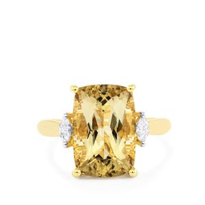 Scapolite & Diamond 18K Gold Lorique Ring MTGW 6.26cts