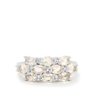 Zambezia Morganite & White Topaz Sterling Silver Ring ATGW 1.54cts