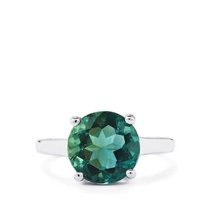 4.28ct Tucson Green Fluorite Sterling Silver Ring