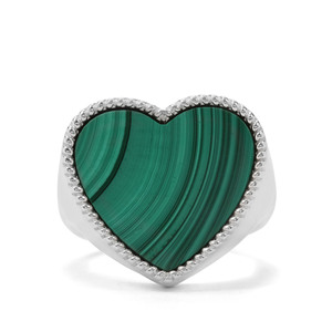 16.67ct Malachite Sterling Silver Ring