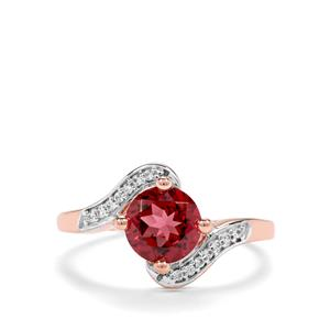 Mahenge Garnet & White Zircon 9K Rose Gold Ring ATGW 1.76cts