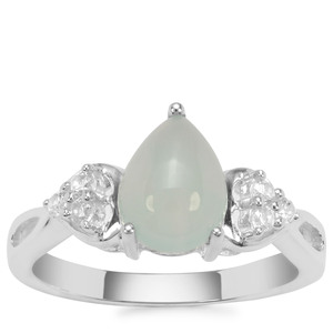 Aquaprase™ Ring with White Zircon in Sterling Silver 1.79cts