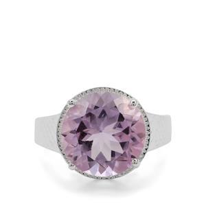 8ct Rose De France Amethyst Sterling Silver Ring