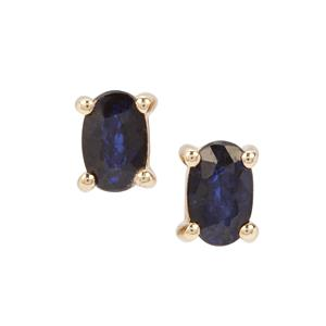 Sri Lankan Sapphire Earrings in 9K Gold 0.53ct