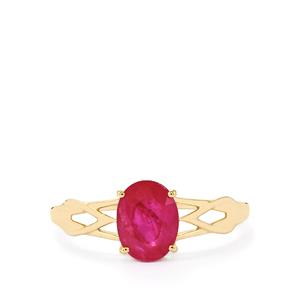 Montepuez Ruby Ring  in 10k Gold 1.47cts