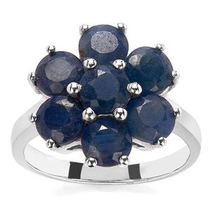 3.10ct Thai Sapphire Sterling Silver Ring