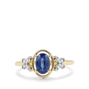 Daha Kyanite & Diamond 9K Gold Ring ATGW 1.11cts