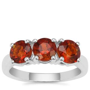 Madeira Citrine Ring in Sterling Silver 2.10cts