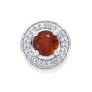 Rio Grande do Sul Citrine Pendant with White Topaz in Sterling Silver 0.78ct