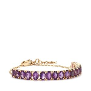 Moroccan Amethyst Tomas Rae Bracelet in 10K Gold 7.38cts