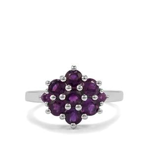 3.06ct Zambian Amethyst Sterling Silver Ring