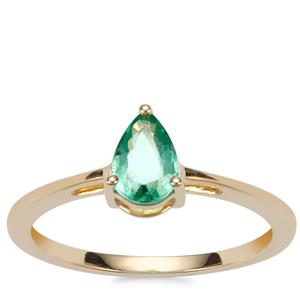 Zambian Emerald Ring in 9K Gold 0.52ct