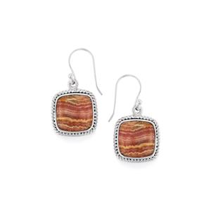 Rhodochrosite Earrings in Sterling Silver 22cts