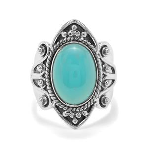 6ct Imperial Aqua Chalcedony Sterling Silver Aryonna Ring