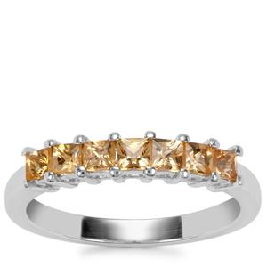 Ouro Preto Imperial Topaz Ring in Sterling Silver 0.83ct