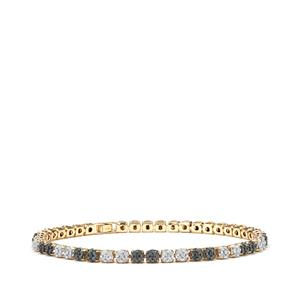 2ct Blue & White Diamond 10K Gold Tomas Rae Bracelet